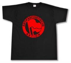 """Zum T-Shirt """"Antifaschistische Aktion (1932, rot/rot)"""" für 13,00 € gehen."""