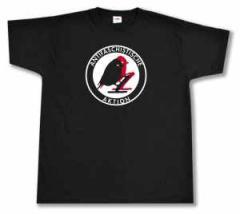 """Zum T-Shirt """"Antifaschistische Aktion - Vögel"""" für 13,00 € gehen."""