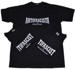 """Zum T-Shirt """"Antifascista Deine Stadt"""" für 19,00 € gehen."""