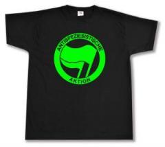 """Zum T-Shirt """"Antispeziesistische Aktion (grün/grün)"""" für 13,00 € gehen."""