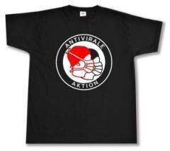 """Zum T-Shirt """"Antivirale Aktion - Mundmasken"""" für 13,00 € gehen."""
