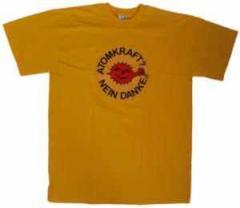 """Zum T-Shirt """"Atomkraft? Nein Danke - mit Faust"""" für 13,00 € gehen."""
