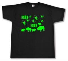 """Zum T-Shirt """"Die Spinnen Die Bullen (grün)"""" für 12,67 € gehen."""