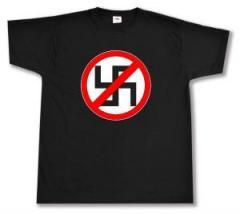"""Zum T-Shirt """"Durchgestrichenes Hakenkreuz"""" für 12,00 € gehen."""