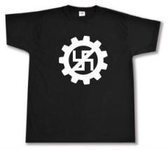 "Zum T-Shirt ""EBM gegen Nazis"" für 13,00 € gehen."