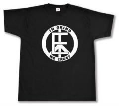 """Zum T-Shirt """"Equality - In Grind We Crust"""" für 12,67 € gehen."""