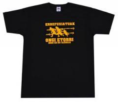 """Zum T-Shirt """"Errefuxiatuak Ongi Etorri"""" für 12,00 € gehen."""