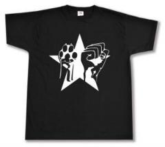 """Zum T-Shirt """"Faust und Pfote - Stern"""" für 12,67 € gehen."""