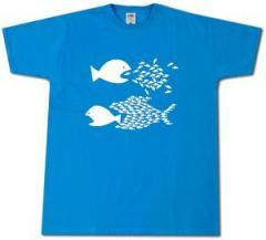 """Zum T-Shirt """"Fische (blau)"""" für 12,00 € gehen."""