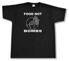 """Zum T-Shirt """"Food Not Bombs"""" für 12,00 € gehen."""