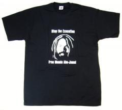 """Zum T-Shirt """"Free Mumia - Stop the Execution"""" für 13,00 € gehen."""