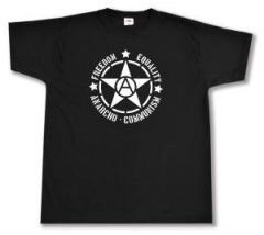 """Zum T-Shirt """"Freedom - Equality - Anarcho - Communism"""" für 13,00 € gehen."""