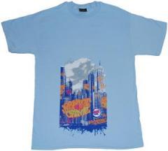 """Zum T-Shirt """"Graffiti Crime light blue"""" für 12,00 € gehen."""
