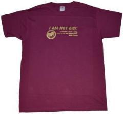 """Zum T-Shirt """"I am not Gay."""" für 12,67 € gehen."""