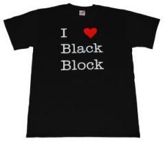 """Zum T-Shirt """"I love Black Block"""" für 16,00 € gehen."""
