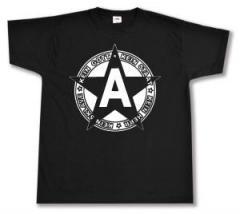 """Zum T-Shirt """"Kein Gott Kein Staat Kein Herr Kein Sklave"""" für 13,00 € gehen."""