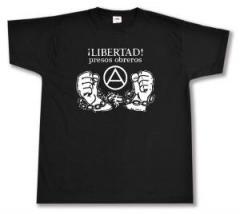 """Zum T-Shirt """"Libertad presos obreros!"""" für 13,00 € gehen."""