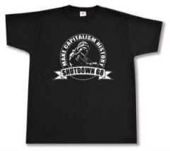 """Zum T-Shirt """"Make Capitalism History"""" für 12,67 € gehen."""
