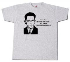 """Zum T-Shirt """"Mutter, ich habe den Krieg verhindern wollen! (Georg Elser)"""" für 13,00 € gehen."""