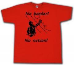 """Zum T-Shirt """"No Border! No Nation! (m)"""" für 14,00 € gehen."""