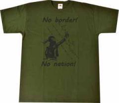 """Zum T-Shirt """"No Border! No Nation! (w)"""" für 14,00 € gehen."""