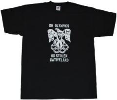"""Zum T-Shirt """"No Olympics on stolen Native Land"""" für 7,00 € gehen."""