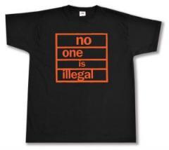 """Zum T-Shirt """"no one is illegal"""" für 13,00 € gehen."""
