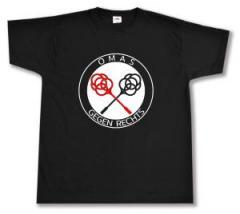 """Zum T-Shirt """"Omas gegen Rechts (Teppichklopfer)"""" für 13,00 € gehen."""