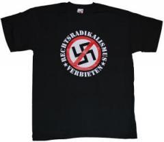 """Zum T-Shirt """"Rechtsradikalismus verbieten"""" für 12,00 € gehen."""
