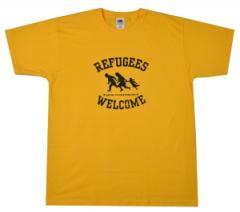 """Zum T-Shirt """"Refugees welcome"""" für 12,67 € gehen."""