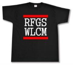 """Zum T-Shirt """"RFGS WLCM"""" für 12,00 € gehen."""