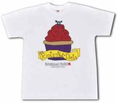 """Zum T-Shirt """"Riots not diets Muffin Linksjugend"""" für 14,62 € gehen."""
