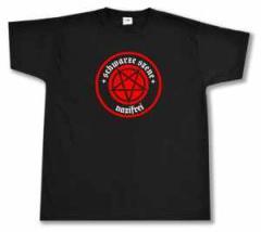 """Zum T-Shirt """"Schwarze Szene Nazifrei - Rotes Pentagramm"""" für 14,62 € gehen."""