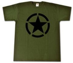 """Zum T-Shirt """"Schwarzer Stern im Kreis (Black Star)"""" für 13,00 € gehen."""