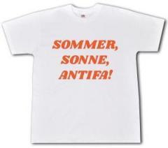"""Zum T-Shirt """"Sommer, Sonne, Antifa!"""" für 13,00 € gehen."""