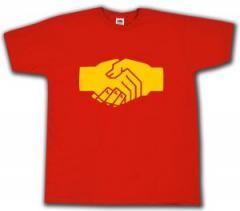 """Zum T-Shirt """"Sozialistischer Handschlag"""" für 12,67 € gehen."""