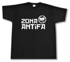 """Zum T-Shirt """"Zona Antifa"""" für 12,67 € gehen."""