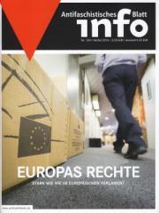 """Zur Zeitschrift """"Antifaschistisches Infoblatt Nr. 104"""" für 3,50 € gehen."""