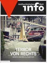 """Zur Zeitschrift """"Antifaschistisches Infoblatt Nr. 105"""" für 3,50 € gehen."""