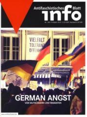 """Zur Zeitschrift """"Antifaschistisches Infoblatt Nr. 106"""" für 3,50 € gehen."""