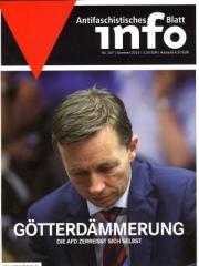 """Zur Zeitschrift """"Antifaschistisches Infoblatt Nr. 107"""" für 4,50 € gehen."""