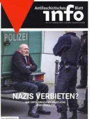 """Zur Zeitschrift """"Antifaschistisches Infoblatt Nr. 111"""" für 4,50 € gehen."""