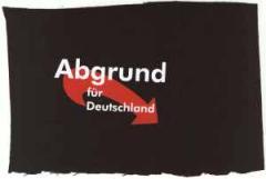 """Zum Aufnäher """"Abgrund für Deutschland"""" für 1,46 € gehen."""