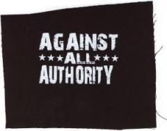 """Zum Aufnäher """"Against All Authority"""" für 1,50 € gehen."""