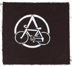 """Zum Aufnäher """"Anarchocyclist"""" für 1,50 € gehen."""