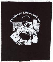 """Zum Aufnäher """"Animal Liberation (Hund)"""" für 1,50 € gehen."""