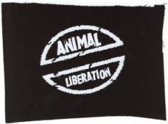 """Zum Aufnäher """"Animal Liberation"""" für 1,10 € gehen."""