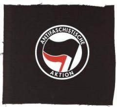 """Zum Aufnäher """"Antifaschistische Aktion (schwarz/rot)"""" für 1,10 € gehen."""