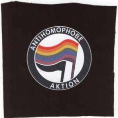 """Zum Aufnäher """"Antihomophobe Aktion"""" für 1,95 € gehen."""
