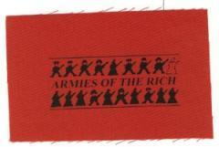 """Zum Aufnäher """"armies of the rich"""" für 1,50 € gehen."""
